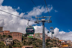 Cable cars in La Paz, Bolivia Royalty Free Stock Photos