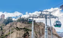 Cable cars in La Paz, Bolivia Stock Photo