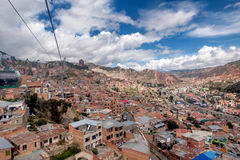 Cable cars in La Paz, Bolivia Royalty Free Stock Photo