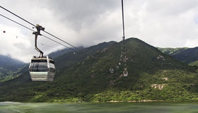 Cable cars at lantau island hong kong Stock Images
