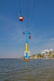 Cable cars of the marina of Jakarta, Indonesia Royalty Free Stock Image