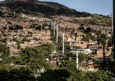 Cable cars in Medellin. Colombia, South America Stock Image
