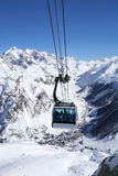 Cable cars in a mountain area Stock Photography