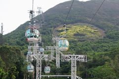 Cable Cars in Ocean Park Stock Photo