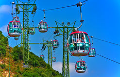 Cable cars of ocean park hong kong Stock Image