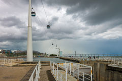 Cable cars at the Parque das Nacoes in Lisbon Stock Photography