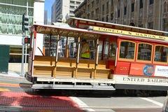 Cable Cars in San Francisco, California Stock Photos
