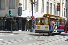 Cable Cars in San Francisco, California Royalty Free Stock Photos