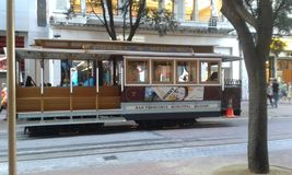Cable cars. San Francisco tourism Stock Image