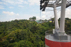 Cable cars from Singapore to Sentosa Island Royalty Free Stock Photography
