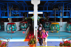 Cable cars station at ocean park hong kong Stock Images