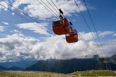 Cable cars in summer Stock Photo