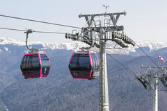 Cable cars transportation system Stock Photo
