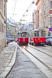 Cable Cars in Vienna Royalty Free Stock Photography