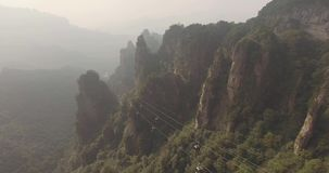 Cable Cars in Zhangjiajie National Park stock video