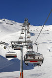 Cable chair. In Zillertal Arena, Austria Royalty Free Stock Photo