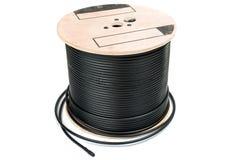 Cable coaxial negro imagen de archivo libre de regalías