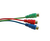 Cable coloreado Imágenes de archivo libres de regalías