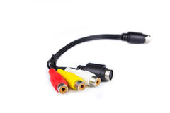 Cable with colorful jacks Royalty Free Stock Images