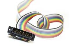 Cable colorido de la red foto de archivo
