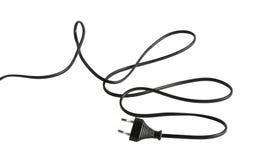 Cable con el enchufe eléctrico Imagen de archivo libre de regalías