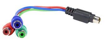Cable con los conectores de cable fotografía de archivo libre de regalías