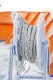 Cable congelado de la nave fotos de archivo libres de regalías