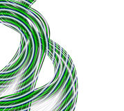 Cable connections. Abstract illustration design of green and silver gray tones cables or wires on white copyspace good for technology background royalty free illustration