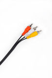 Cable cutoff point. On a white background stock images