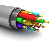 Cable. 3d illustration of cable inside structure Stock Image