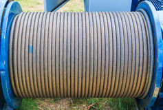 Cable de acero Fotos de archivo libres de regalías
