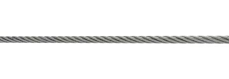 Cable de acero aislado en blanco fotografía de archivo libre de regalías