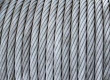 Cable de acero en una bobina Fotografía de archivo