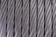 Cable de acero Textura foto de archivo