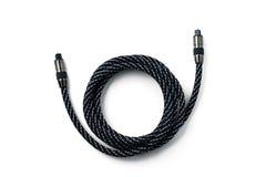 Cable de audio óptico Fotos de archivo