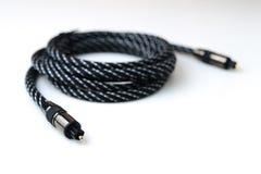 Cable de audio óptico Fotografía de archivo libre de regalías