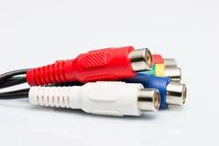 Cable de audio multicolor Imagen de archivo libre de regalías