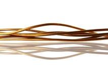 Cable de cobre Fotos de archivo libres de regalías
