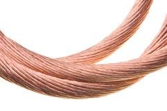 Cable de cobre Imagen de archivo