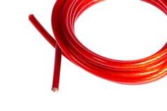 Cable de cobre de la energía eléctrica del manojo Imagenes de archivo