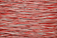 Cable de cobre rojo y blanco Imagen de archivo libre de regalías