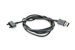 Cable de datos del USB Imagenes de archivo