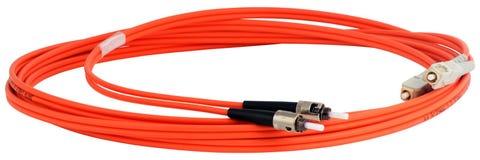 Cable de datos óptico Fotos de archivo