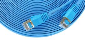 Cable de Ethernet de la red de ordenadores Fotografía de archivo