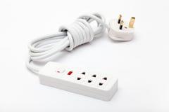 Cable de extensión de la energía eléctrica Imagen de archivo