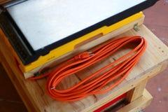 Cable de extensión del trineo del corte de la cruz Foto de archivo