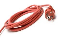 Cable de extensión rojo Fotos de archivo libres de regalías