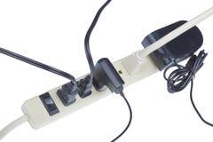 Cable de extensión del poder funcionando. Fotografía de archivo libre de regalías