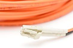 Cable de fibra óptica Fotografía de archivo