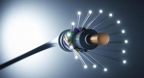 Cable de fibra óptica - ejemplo 3D libre illustration